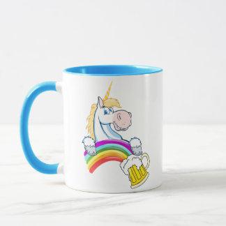 Pint of Gold at End of Rainbow (Plus Unicorn) Mug