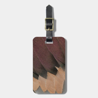 Pintail Duck Feather Design Luggage Tag