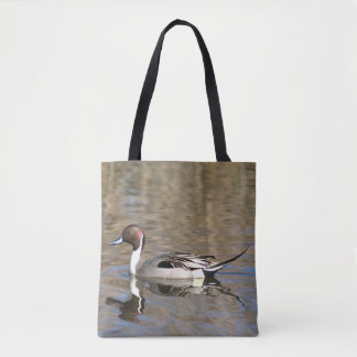 Pintail Duck Swims In A Pond Tote Bag