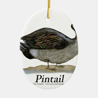 Pintail duck, tony fernandes christmas ornament