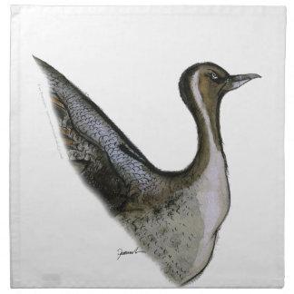 pintail duck, tony fernandes napkin