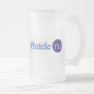 Pintele Yid Frosted Glass Mug