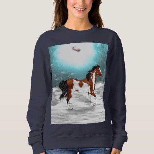 Pinto Arabian Horse Christmas Sweatshirt
