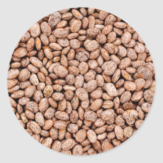Pinto beans classic round sticker