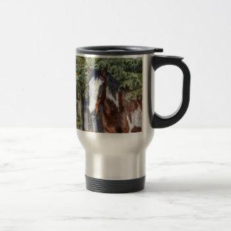 Pinto Paint Stallion & Evergreen Trees Mug