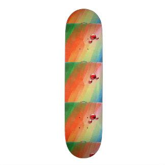 pintura de varias cores skate