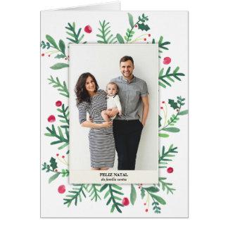 Pintura em Aquarela | Feliz Natal Greeting Card