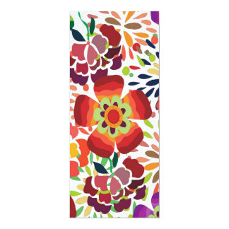 pintura floral bonita 10 cm x 24 cm invitation card