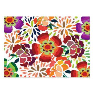 pintura floral bonita business card templates