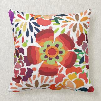 pintura floral bonita throw pillow