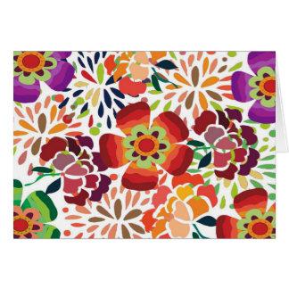 pintura floral bonita greeting card