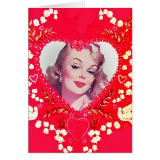 Pinup Bombshell Vintage Valentine Card