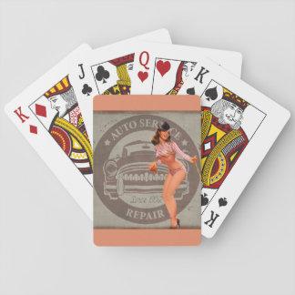 Pinup Car Playing Cards