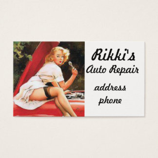Pinup Car Repair Business Card