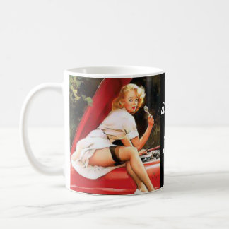 Pinup Car Repair Coffee Mug
