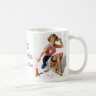 Pinup Firework Coffee Mug