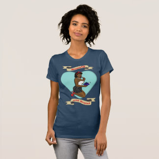 Pinup Girl, Beauty and Brains T-Shirt