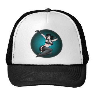 Pinup Girl Cap Retro 50's 60's Pinup Caps Trucker Hat