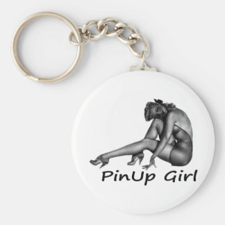Pinup Girl Cool Retro Porducts! Basic Round Button Key Ring