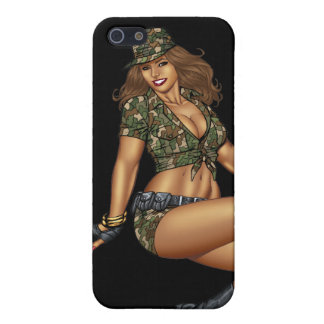 Pinup Girl in Camo by Al Rio iPhone 5 Cover