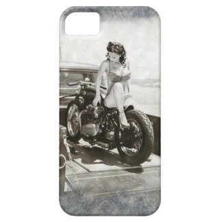 PINUP GIRL ON MOTORCYCLE iPhone 5 CASES