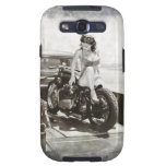 PINUP GIRL ON MOTORCYCLE. GALAXY S3 CASE