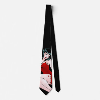 Pinup Girl Tie 50's Pinup Girl Neckties Retro Art