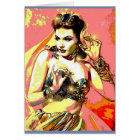 Pinup Harem Girl Greeting Card Occasions Birthday
