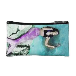Pinup Mermaid Makeup Bag