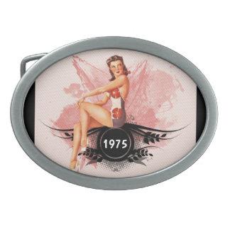 Pinup pink belt buckle