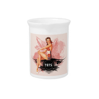 Pinup pink pitcher