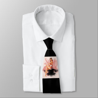 Pinup pink tie