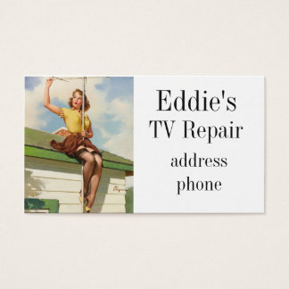 Pinup Roof Business Card
