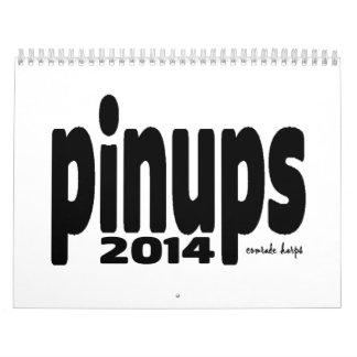 Pinups 2014 - a season creep calemdar calendar