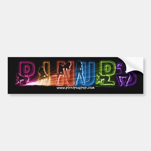 PINUPS Light Up Sticker Bumper Sticker