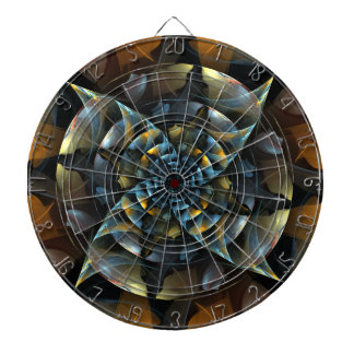 Pinwheel Abstract Art Dartboard