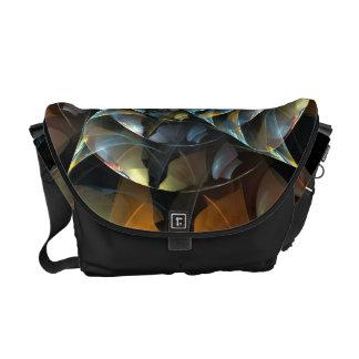 Pinwheel Abstract Art Messenger Bag