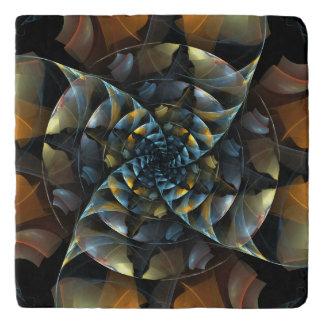 Pinwheel Abstract Art Stone Trivet