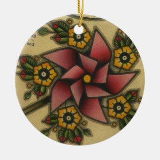 pinwheel christmas ornament