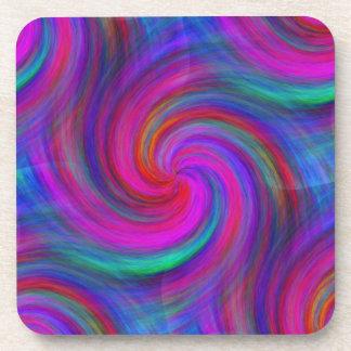 Pinwheel Dream Plastic Coaster