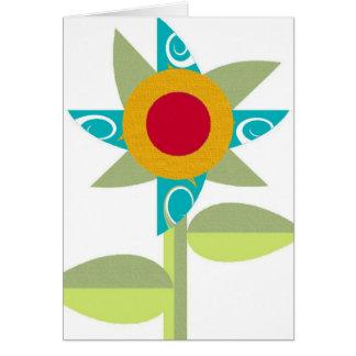 Pinwheel Flower Note Card