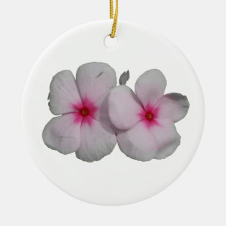Pinwheel flower pink with natural marks round ceramic decoration