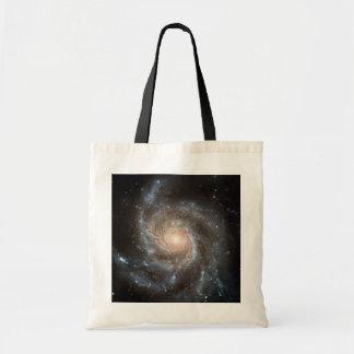 Pinwheel galaxy canvas bag