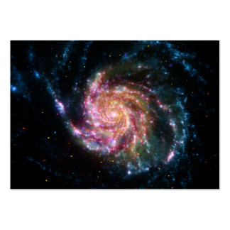 Pinwheel Galaxy Spiral Space Business Card Templates