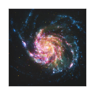 Pinwheel Galaxy Spiral Space Stretched Canvas Prints