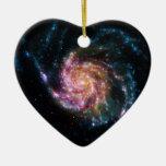 Pinwheel Galaxy Spiral Space Christmas Ornaments