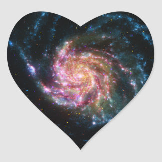 Pinwheel Galaxy Spiral Space Heart Sticker