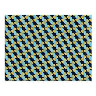 Pinwheel Geo Pattern Postcard