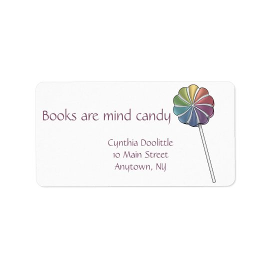 Pinwheel Lollipop Bookplate Label