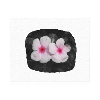 Pinwheel pink circle  flower cutout canvas print